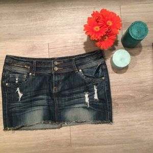 Almost Famous Skirts - Denim Mini-Skirt